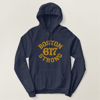 Boston Strong 617 Embroidery Embroidered Hoodie