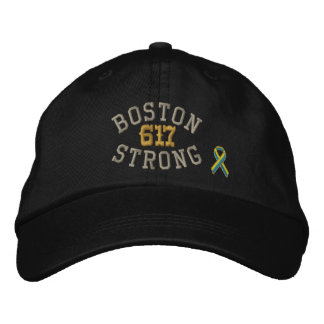 Boston Strong 617 Ribbon Edition Embroidered Baseball Hat