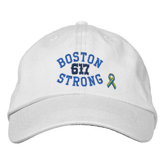 Boston Strong 617 Ribbon Edition Embroidered Hats