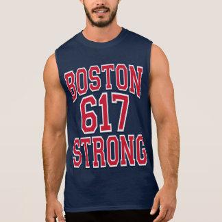 Boston STRONG 617 Typography Sleeveless Tee