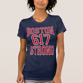 Boston STRONG 617 Typography Tees