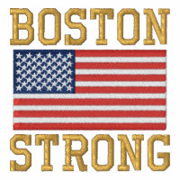 Boston Strong American Flag Embroidery Embroidered Hooded Sweatshirts