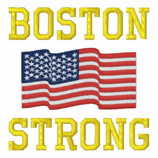Boston Strong American Flag Embroidery Hoody