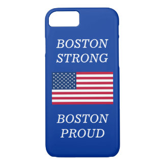 Boston Strong and Proud USA Patriotic Flag Blue iPhone 8/7 Case