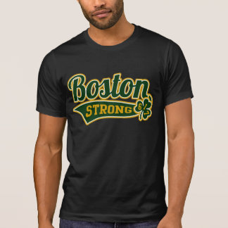 Boston Strong Ballpark Shamrock College T-Shirt