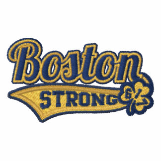 Boston Strong Ballpark Shamrock embroidered Embroidered Shirts