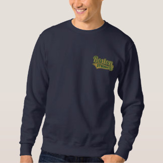 Boston Strong Ballpark Shamrock embroidered Embroidered Sweatshirt