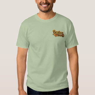 Boston Strong Ballpark Shamrock embroidered Embroidered T-Shirt