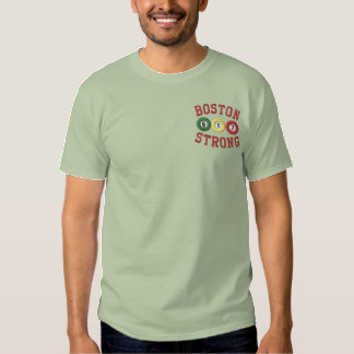 Boston Strong Billiards Pool Shark Embroidered T-Shirt