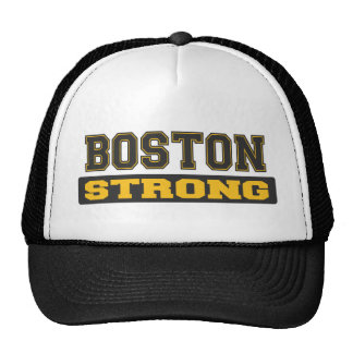 BOSTON STRONG Black and Gold Logo Hats