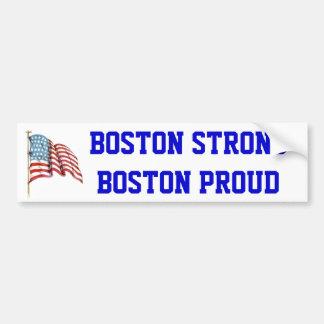 Boston Strong Boston Proud with USA American Flag Bumper Sticker