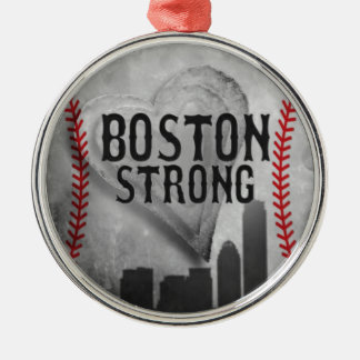 Boston Strong by Vetro Jewelry & Designs Metal Ornament