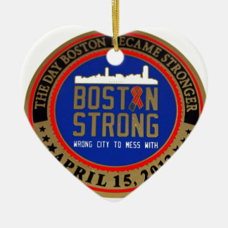 ------------------------------------BOSTON STRONG- CERAMIC ORNAMENT