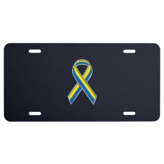 Boston Strong Chrome Style Ribbon License Plate