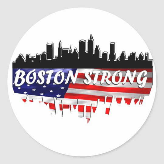 Boston Strong Classic Round Sticker