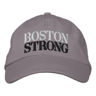 BOSTON STRONG EMBROIDERED BASEBALL CAP