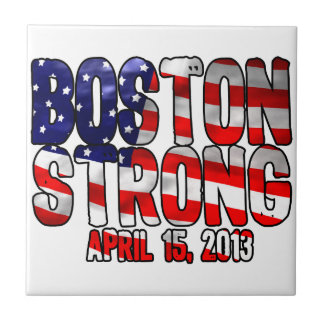 Boston Strong Flag Ceramic Tile