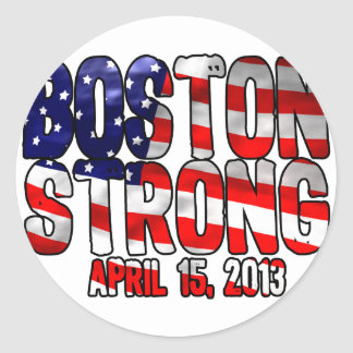 Boston Strong Flag Classic Round Sticker