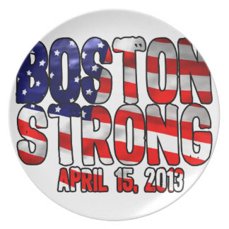 Boston Strong Flag Dinner Plate