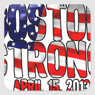Boston Strong Flag Square Sticker