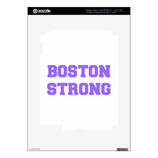 boston-strong-fresh-violet.png iPad 3 pegatina skin