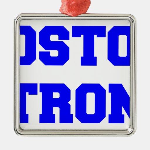 boston-strong-freshman-blue.png adorno navideño cuadrado de metal