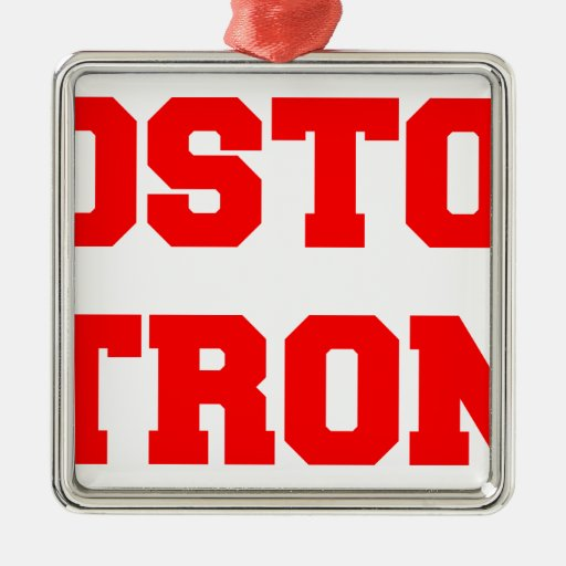 boston-strong-freshman-red.png metal ornament
