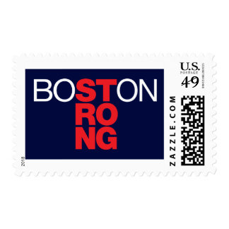 Boston Strong Helvetica Blue Stamp