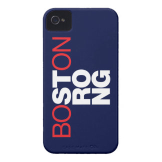 Boston Strong Helvetica iPhone 4 case (navy blue)