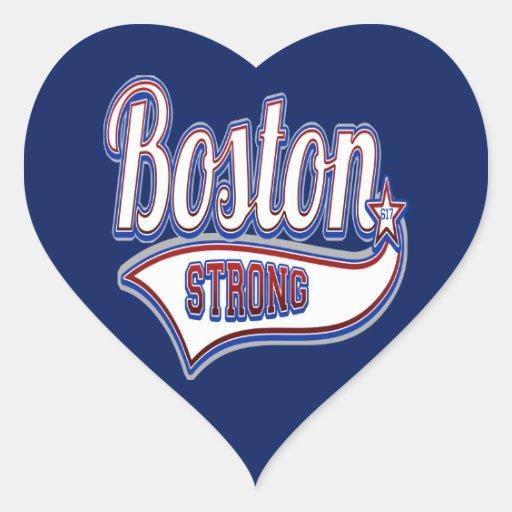 Boston Strong Hockey Curling Heart Sticker