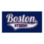 Boston Strong Hockey Style Poster