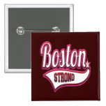 Boston Strong in Pink Pinback Buttons