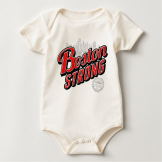Boston Strong in red and blue decor Baby Bodysuit