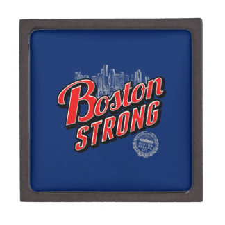 Boston Strong in red and blue decor Jewelry Box