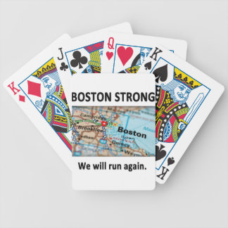 Boston Strong Map Bicycle Playing Cards