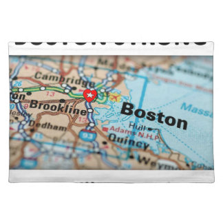 Boston Strong Map Cloth Placemat
