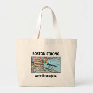 Boston Strong Map Large Tote Bag