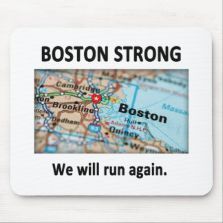 Boston Strong Map Mouse Pad