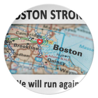 Boston Strong Map Party Plates