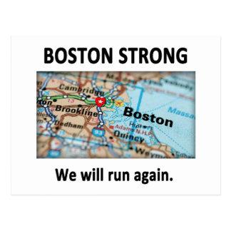 Boston Strong Map Postcard