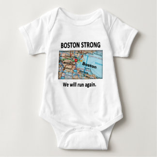 Boston Strong Map T Shirt