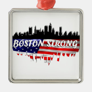 Boston Strong Metal Ornament