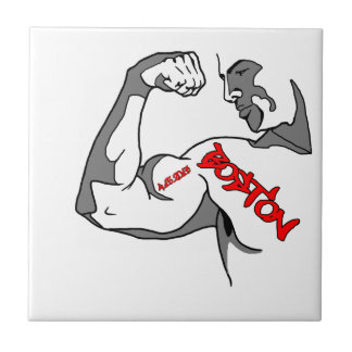 Boston Strong Muscle Ceramic Tile