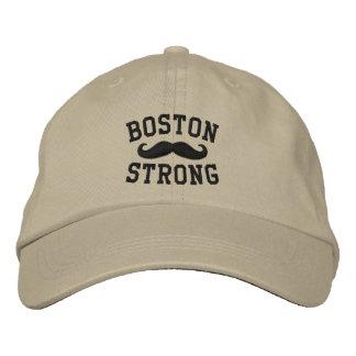 Boston Strong Mustache Embroidered Baseball Cap