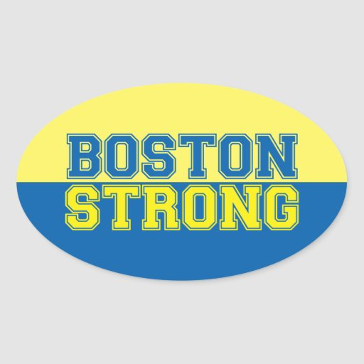 Boston Strong Oval Stickers