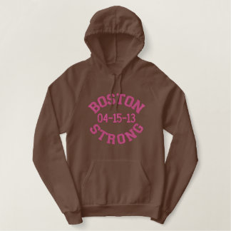 Boston Strong Remembers Embroidered Hoodie