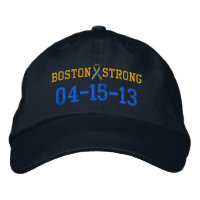 Boston Strong Ribbon 04-15-13 Embroidery Cap Embroidered Baseball Cap