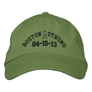 Boston Strong Ribbon 04-15-13 Embroidery Cap Embroidered Baseball Caps