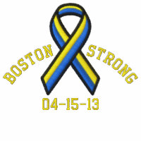Boston Strong Ribbon 04-15-13 Embroidery Embroidered Jacket