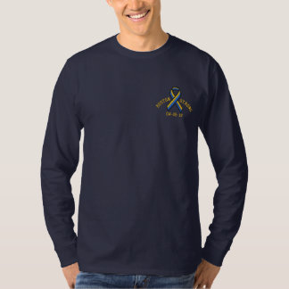 Boston Strong Ribbon 04-15-13 Embroidery Embroidered Long Sleeve T-Shirt